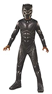 Rubies - Disfraz Oficial de Pantera Negra de los Vengadores - Pequeño, Edad 3 - 4, Altura 117 cm