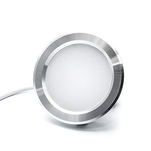 Foco LED empotrable 3W fino. Luz para campana extractora de cocina, estantes....