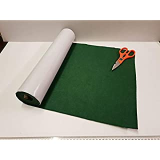 GCH One Metre x 450mm Wide roll of Green Sticky Back SELF Adhesive Felt/Baize