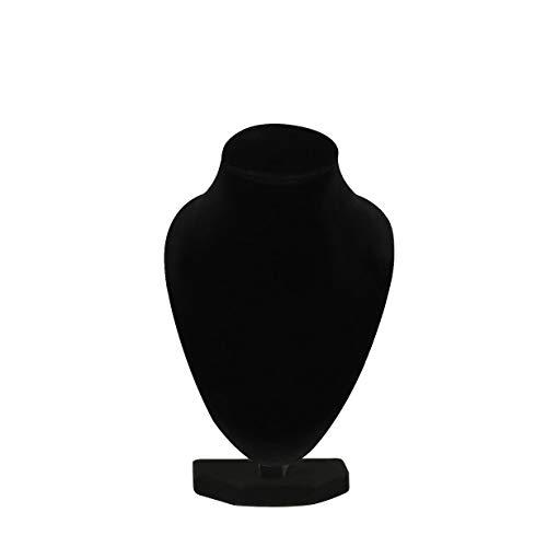 camellia Durable Schwarz Schaufensterpuppe-Halsketten-Anhänger-Ausstellungsstand-Halter-Erscheinen Dekor-Armband Schmuck Organizer (schwarz)