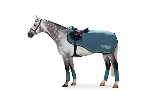 Eskadron Ausreitdecke Fleece Exercise (Classic Sports HW19), tealblue, L (145 cm)