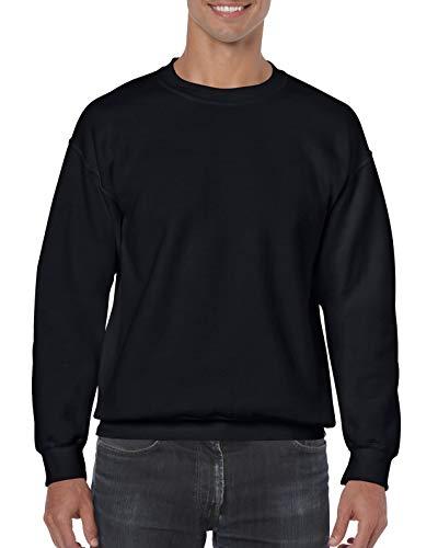 Gildan Sweatshirt, Melange Gr. S, schwarz