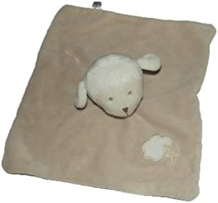 Nattou - Doudou Nattou Bout'chou mouton plat marron nuage - 6357 | Exquis (en) Exécution