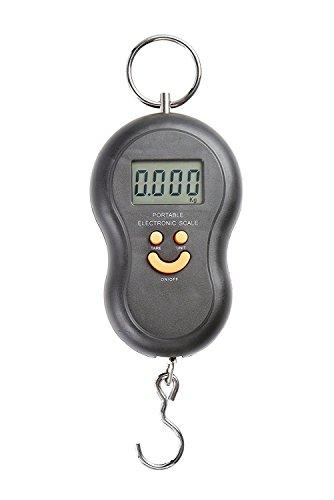 Bilancia portatile elettronica con gancio pesca 40 kg peso valigia professionale