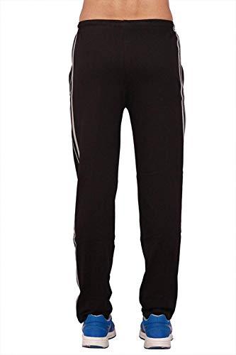 VIMAL Men's Cotton Trackpant (D5BLACKXL01)
