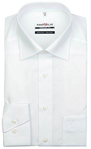 Marvelis Comfort Fit Hemd weiß, Kragenweite:43