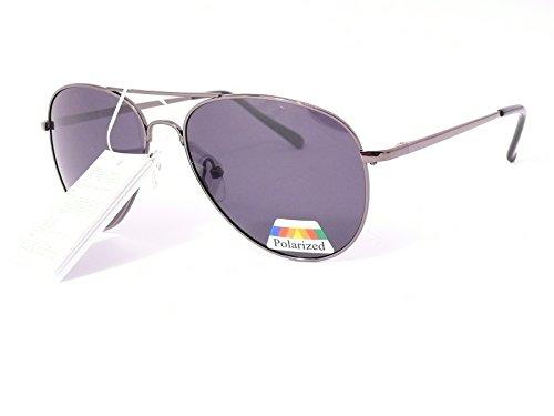 lunettes de soleil polarisantes polarisées verres polarisés homme femme 201249 (monture noir brillant verres vert, largeur:145mm hauteur:45mm)