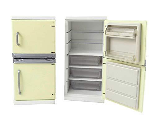 Melody Jane Puppenhaus Creme Kühlschrank Gefrierschrank Moderne Küche Möbel 1:12 Maßstab (12 1 Kühlschrank Maßstab)