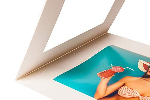 Klapp Passpartout - Außen: 60x80cm - für Foto: 40x60cm - Museumsqualität - für die Archivierung, Aufbewahrung, Präsentation und Überreichungen