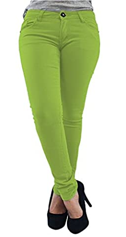 New Ladies Womens Skinny Jeans Jegging Apple green