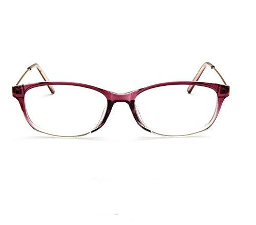 Duhongmei123 Mode Brillen Ovale Retro Brille Occhiali (Frame Colour : On Purple transparent)