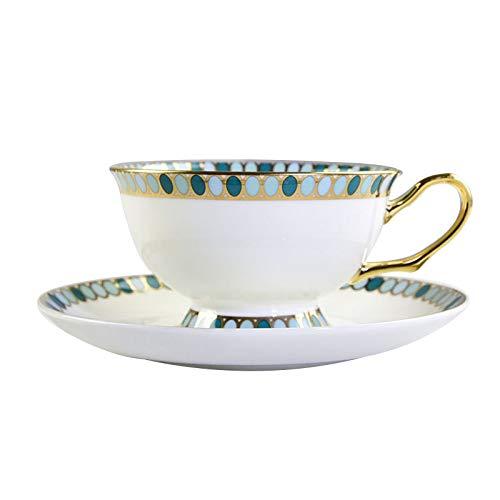 JGDGJKFB Kaffeetasse Europäische Keramik Kaffeetasse Set Mode Teetasse Porzellan Nachmittagstee...