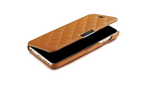 ICARER Mikrofaser Check Series echt Leder Tasche Hülle Schutzhülle für Apple iPhone 611,9cm gelb