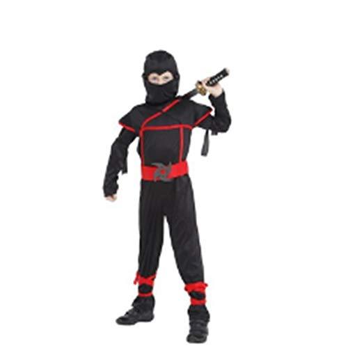 WHFDRHWSJFZ SportingGoods Prom Kostüm Skelett HalloweenKinder Super hübscher Junge Kinder Kostüme von Ninja Warrior schwarz Weihnachten Tag Neujahr Purim Halloween Spiel Party Geschenk, ()