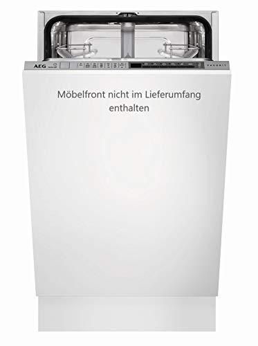 AEG FSE63400P Vollintegrierter-Geschirrspüler / 45 cm / AirDry / Energiesparend / Spülmaschine mit Besteckkorb, Beladungserkennung, Glas-, Intensiv- & Kurzprogramm