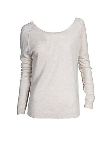 NOT SHY Damen Pullover aus Kaschmir und Leinen beige sand chine S