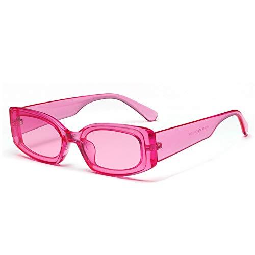 Daawqee Prämie Sonnenbrillen,Brillen,Vintage Small Square Sunglasses Women Brand Designer Retro Sunglass Rectangle Sun Glasses Female Candy Color Eyewears Multi Red