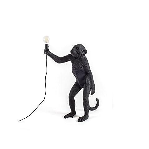Seletti Monkey Lamp - Debout Noir