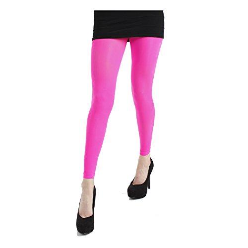 Pamela Mann Neon 50denari Footless collant senza piede Neon Rosa - Flo Pink M