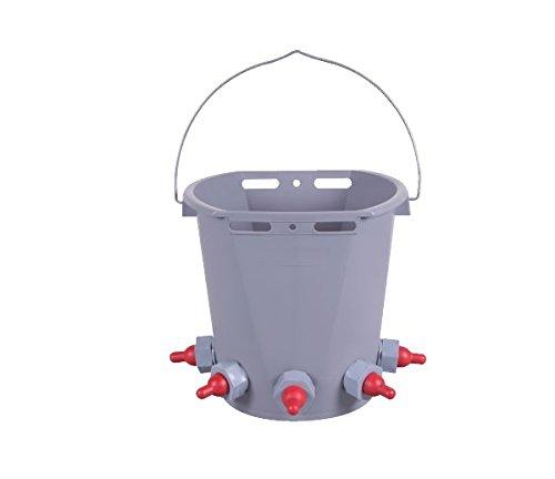 Tränkeeimer für Lämmer aus Kunststoff (inkl. Ventilen und Saugern) 8 Liter