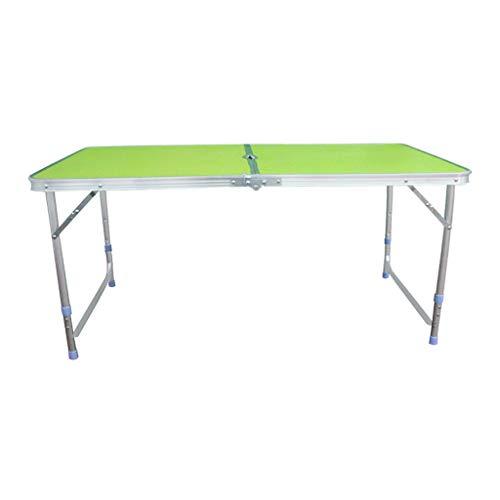 Vimele Table Pliante en Plein air Portable Table Pliante en Aluminium de Pique-Nique Table Pliante en Aluminium (Couleur : Green)