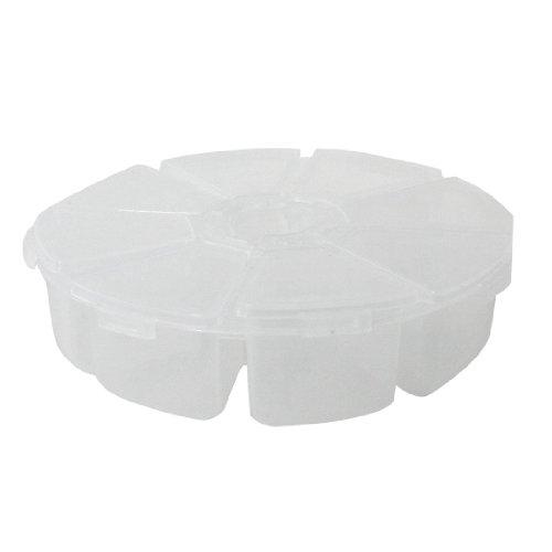 sourcingmap® Kasten-Speicherkomponenten deutlich weißen Kunststoff Runde Form sammeln Fall de