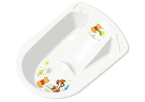 Vaschetta bagnetto neonati con sedile e tappo WINNIE THE POOH di OKT 80 cm colore: bianco