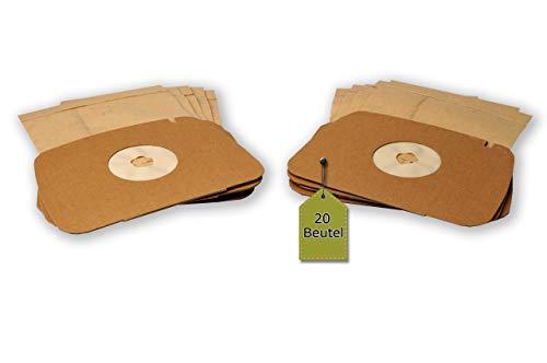 eVendix Staubsaugerbeutel passend für LUX Lux 1 Royal | 20 Staubbeutel | kompatibel mit Swirl ES1 (Staubsauger Royal)