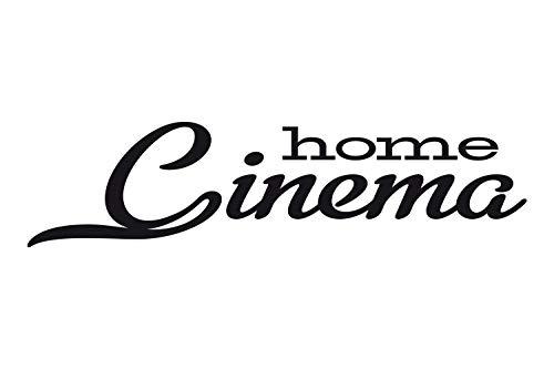 universumsum Wandtattoo Home Cinema Dunkelbeige 200 x 50 cm wal213-200-816 Wandaufkleber Wandsticker Wandtattoo Wohnzimmer Schlafzimmer Selbstklebend 50 Home Cinema