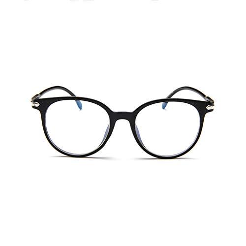 WQIANGHZI Damen Sonnenbrille Lässige Klassische Nerdbrille Retro unterschiedliche Farben Plastik Hochwertige Holzbrille Weiblich Kurzsichtig Brille mit Frühlings Scharnieren