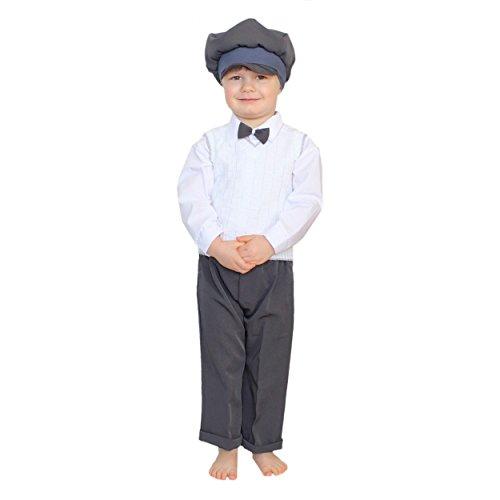 Baby Taufanzug 5-tlg. Set Anzughose Langarm-Hemd Weste Mütze Fliege Taufkleidung Jungen Anzug, Farbe: Graphit, Größe: 68