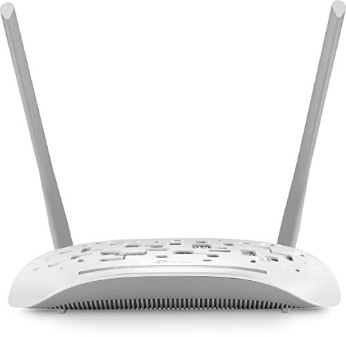 TP-Link TD-W8961N Modem Router ADSL2+, Wireless N300 Mbps, 4 Porte Fast Ethernet, Incluso Filtro ADSL/RJ11, Cavo DSL/RJ45, Cavo Ethernet, Dispositivo 3-in-1, Modem/Router/Access Point