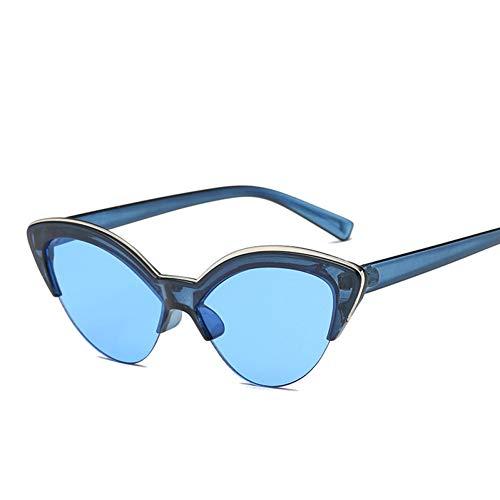 WTACK Schmetterling Katzenauge Sonnenbrille FrauenBlau Modesonnenbrillefür Frauen Trendy Getönte Farbton