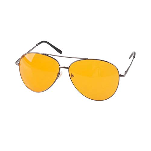 Yajiemei Nachtsichtbrillen für Nachtfahrten Nachtsichtgeräte für Männer Männer Brillen zum Klettern Angeln Fahren (Color : Gun-Color)
