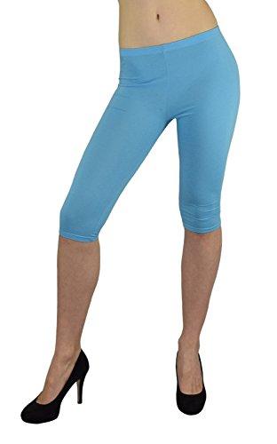 S&LU super Damen Capri-Leggings 3/4-Leggings in vielen tollen Farben Größe XXS - M (XXS - M, (Schwarze Karibik Stiefel)