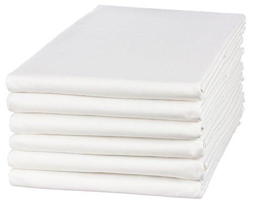 5er Pack Angebot!! Haustuch / Betttuch / Bettlaken 150x250cm weiß ohne Gummizug 95° waschbar