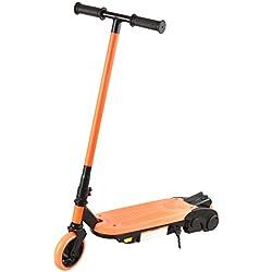 Bibee Volt Trottinette électrique Mixte Enfant, Noir/Orange