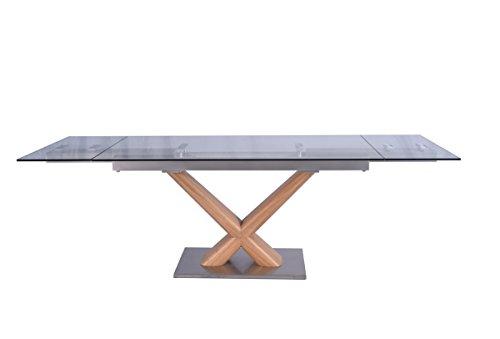 Esstisch Gino Glastisch 160 - 240cm x 90cm ausziehbar
