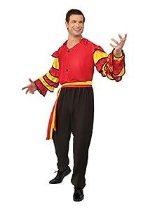 Bristol Novelty- Rumba Man Costume (XL) Disfraz, Color negro, rojo (AC626X)