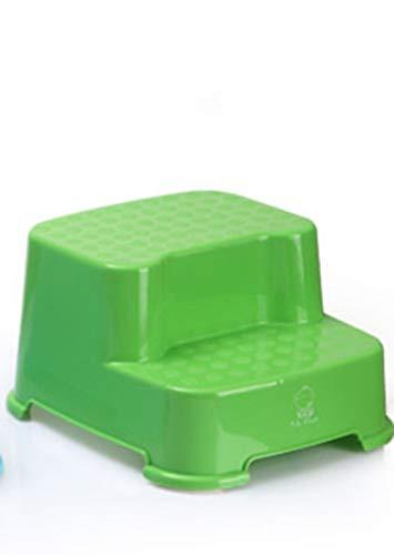AZUO Step Hocker 2 Step - Für Kinder und Erwachsene • Rutschfeste Oberfläche und Füße • Für Töpfchen, Badezimmer und Küche • Hochwertige sichere Materialien (Lime Green),Green