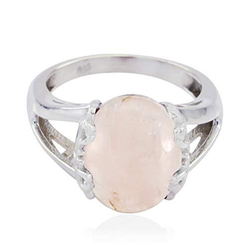RGPL Damen Unisex Herren - 925 Sterlingsilber Sterling-Silber 925 Pink Rosenquarz