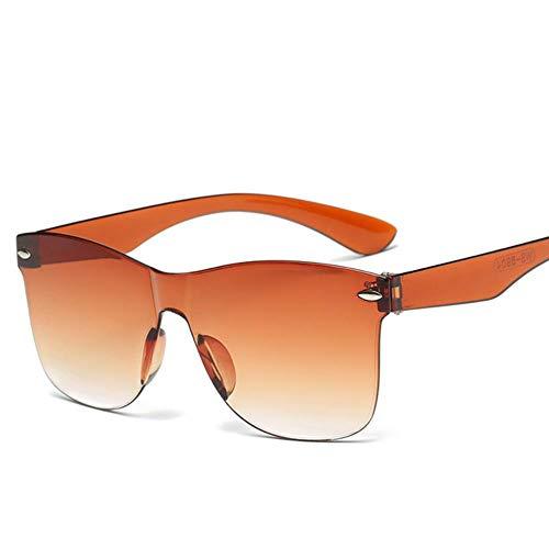 Cranky Orange New Transparente Sonnenbrille Frauen Marke Vintage Bunte Retro ModeRandloseSonnenbrille FrauenBrillen Oculos De Sol, Orange