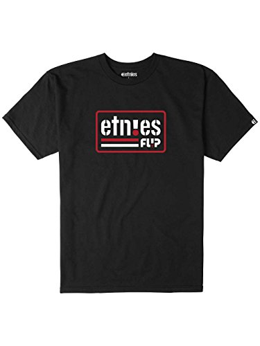 Herren T-Shirt Etnies Flip Side T-Shirt Black
