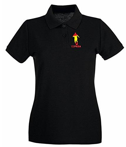 Cotton Island - Polo pour femme WC0338 Espana Noir