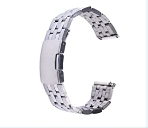 GOOQ Solid Stainless Steel Watchband Wristband for Samsung Galaxy Gear 2 R380 Neo R381 Live R382 Smart Watch Strap Compatible with LG G Watch W100/W110 Smart Watch de Generic