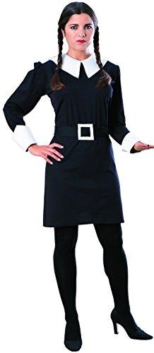 Offizielles Wednesday™ -Kostüm der Addams Family™ für Damen Halloween - (Halloween Addams Kostüm Wednesday)