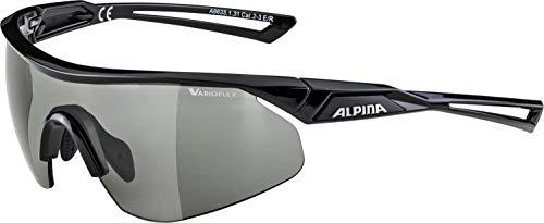 Alpina Unisex- Erwachsene NYLOS Shield VL Sportbrille, schwarz, One Size