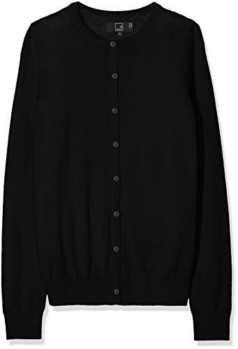 Meraki cardigan lana merino donna girocollo, nero (black), 44 (taglia produttore: medium)