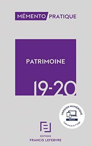 Mémento Patrimoine 2019-2020 par  Collectif