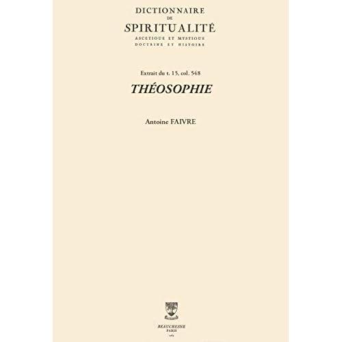 THÉOSOPHIE (Dictionnaire de spiritualité)